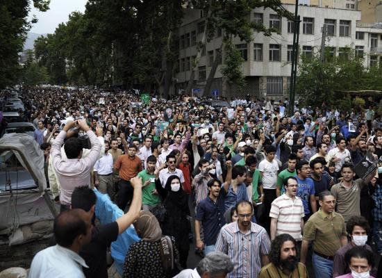 Mousavi demonstrators