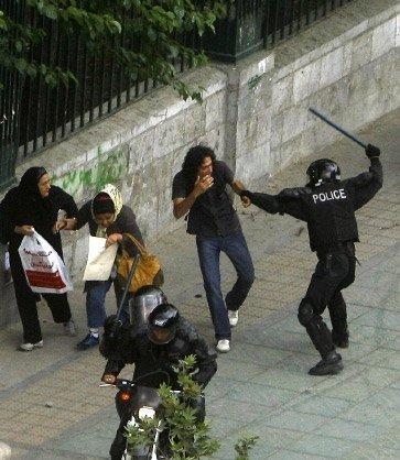 police attack pedestrian