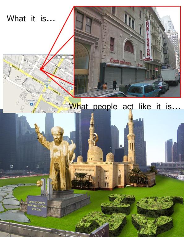 Corboda House myth and reality, New York Mosque, New York Mega Mosque