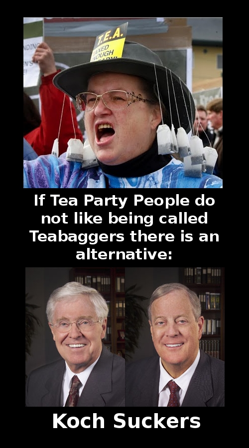 Koch Brothers, Tea Party people, Tea Party hats